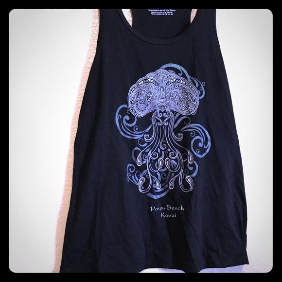 tops hawaiian jellyfish tank poshmark